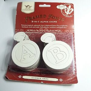 Tattered Angels Glimmer Chips Chipboards - Alpha Chips