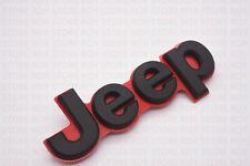 2014-18 Jeep Grand Cherokee RED & GLOSS BLACK Tailgate Emblem Mopar OEM
