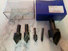 "Ford 4 Pc1/4""-1"" 82° Hss Single Flute Uniflute Countersink Set +1 1 /2 Dia Tool"