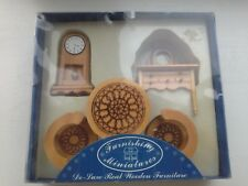 Miniature Dolls House Wooden Furniture by Furnishing Miniatures (New Boxed)