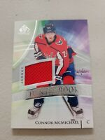 Connor McMichael 2020-21 UD SP Game Used  Authentic Rookies Jersey #135 Capitals