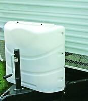 RV Dual Propane Tank Cover White 20LB Or 30 LB Bottles Gas Trailer Camper Travel