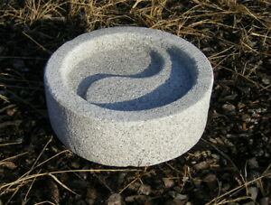 Yin Yang Japan Brunnen Wasserbecken Bachi Koi Zen Asia Granit D 30 cm