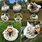 Funny Chicken Garden Statue Hen Resin Craft Sculpture Ornament Home Yard Decor