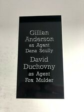 The X-Files Mulder & Skully - Large Engraved Plaque Plate for Signed Memorabilia