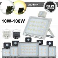 LED Floodlight PIR Motion Sensor 10//20//30//50//100//300W Security Lamp Flood Light
