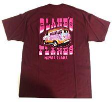 Blake's Flakes Metal Flake T-shirt Dark Red Maroon