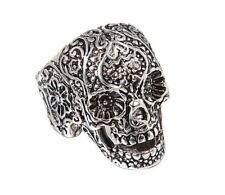 Edelstahlring Schädel Skull Skelett Skeleton Gothik Biker Gr. 12