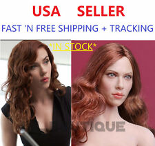 *IN STOCK*1/6 Scarlett Johansson Black Widow Head LONG RED CURLS in PALE