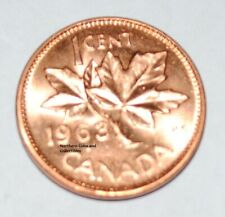 1963 1 Cent Canada Copper Nice Uncirculated