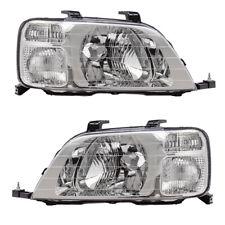 New Pair Set Headlight Headlamp Housing Assembly for 97 98 99 00 01 Honda CR-V