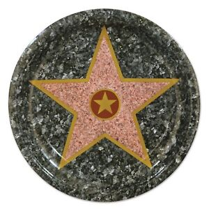 """Star Hollywood Awards Night Prom Theme Party 9"""" Paper Dinner Plates"""