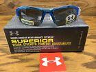 Under Armour UA Nitro Youth Sport Sunglasses Blue/Gray Multiflection Lens