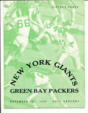 1945 11/25 New York Giants vs Green Bay Packers football program