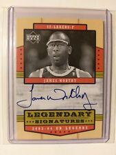 2003-04 UD Legends Legendary Signature #LS-JW James Worthy Auto Card LA Lakers