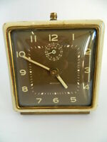 Vintage Westclox Ivory Luminous Square Alarm Clock (Similar to Spur Style 1)
