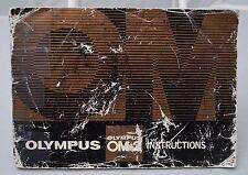 Olympus Om-2 35mm film camera instruction manual