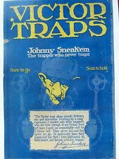"Victor Traps,Trapping,Oneida N.Y.,""Johnny Sneakum"" Advertising Poster"