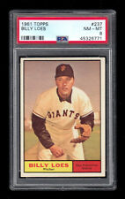 1961 Topps #237 Loes PSA 8 NM-MT