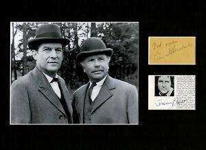 JEREMY BRETT AND EDWARD HARDWICKE SHERLOCK HOLMES SIGNED AUTOGRAPH DISPLAY UACC8