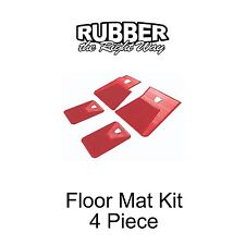 1960 1961 1962 1963 1964 Ford Galaxie Floor Mat Kit - 4 pc. Red