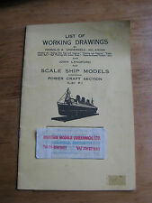 List of Working Drawings for Scale Ship Models:Power Craft Section (List P) 1975