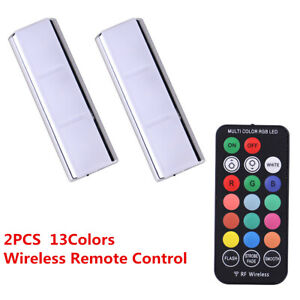 2X 13 Colors RGB LED Car Interior Charging Foot Light + Wireless Remote Control