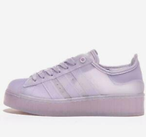 New In Box Adidas Superstar Jelly Womens 6.5 Purple Sneaker Shoes FX4323