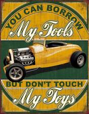 Poster Metal Signs My Tools My Toys Plaque Retro Tin Plate Pub Garage Decor