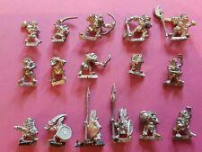 16 X orcos & goblins WARHAMMER FANTASY CITADEL MARAUDER Metal Oldhammer 80s GW