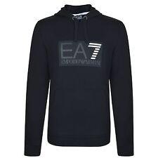 Emporio Armani EA7 Hoodie Logo Sweatshirt Jumper Black Size XXL New £65