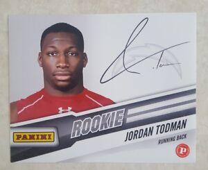 JORDAN TODMAN Signed 8 x10 PHOTO AUTOGRAPH PANINI ROOKIE CARD CHARGERS LA SD