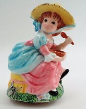 Lefton Porcelain Little Miss Muffet & Spider Nursery Rhyme Figural Music Box