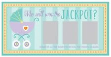Baby Shower Party Games Scratch to Win Cards x 12 Who will win the jackpot