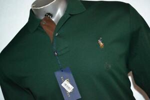26479-a Mens Polo Ralph Lauren Golf Shirt Size Large Pima Soft Touch Green NEW