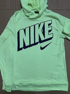 Yellow Highlighter Nike Sportswear Hoodie Sweatshirt Jacket Size Youth Large