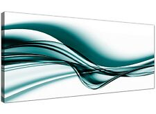 Teal Modern Canvas Print of Contemporary Abstract  1033