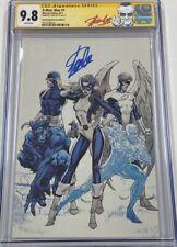 Marvel X-men Blue #1 J. Scott Campbell Virgin Cover C Signed Stan Lee CGC 9.8 SS