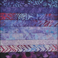 LOT OF 9 FAT QUARTERS GRAPE JELLY BATIK LUNN FABRICS SPECIAL EDITION FAT QUARTER