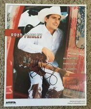BRAD PAISLEY Signed Autographed Promo Photo Country Music