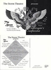 THE BRUTE - A FARCE BY ANTON CHEKOV UNUSED ADVERTISING POSTCARD