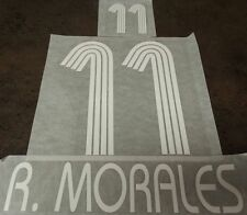 Authentic Ramon Morales 11 Seleccion Mexico Font Set Soccer Futbol Jersey