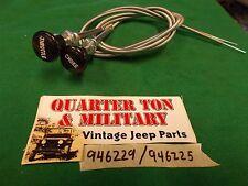 Jeep Willys CJ2A 3A CJ3B CJ5 Black choke+throt cbls