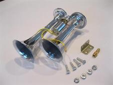 FACTORY 2nds Dual Compact Truck Boat Car Air Horns Loud Horn CHROME Metal 115 DB