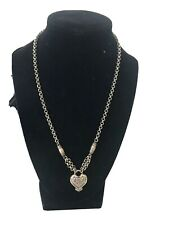 Brighton Silver Plate Chain Link Heart Necklace