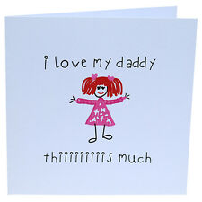 Daddy's Birthday Card Cute Handmade Birthday Card for Daddy Father's Day Card