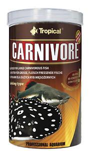 Tropical Carnivore 500ml Raubfische Rochen Futter Welse Schlangekopffisch