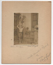 "Beautiful 1938 Art Photo of Nude "" Indian Love Lyric "" signed Karl Siegel"