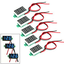 5pcs Mini Blue Dc 0 30v Led Panel Voltmeter 3 Digital Display Voltage Meter Fast
