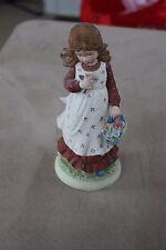 Vintage 1977 Holly Hobbie Figurine - Pioneer Girl With Flower Basket - Hhf-3
